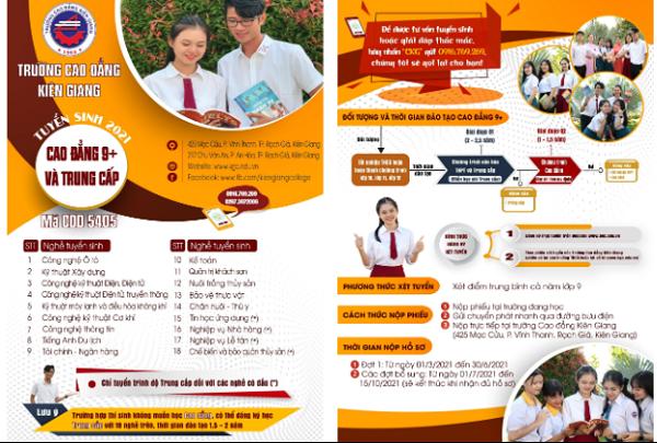 Trường Cao đẳng Kiên Giang tuyển sinh 2021